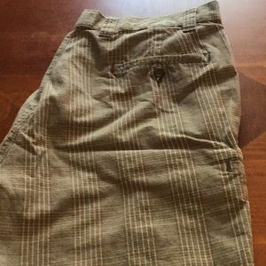 Men's casual dress shorts.